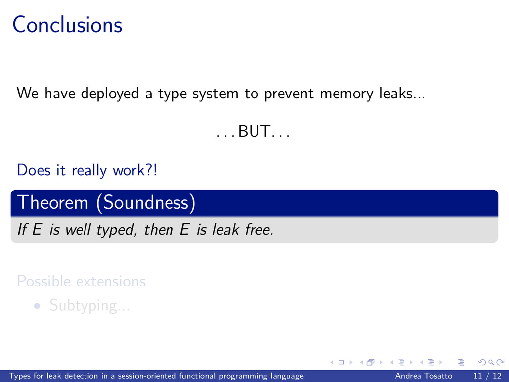 Conclusions We have deployed a type system to p...