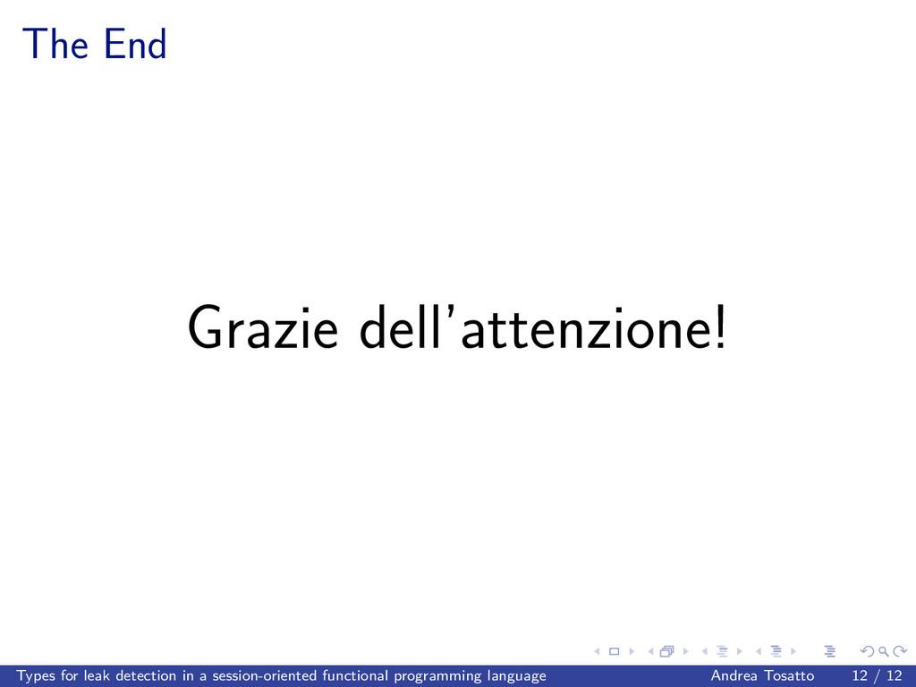 The End Grazie dell'attenzione! Types for leak ...