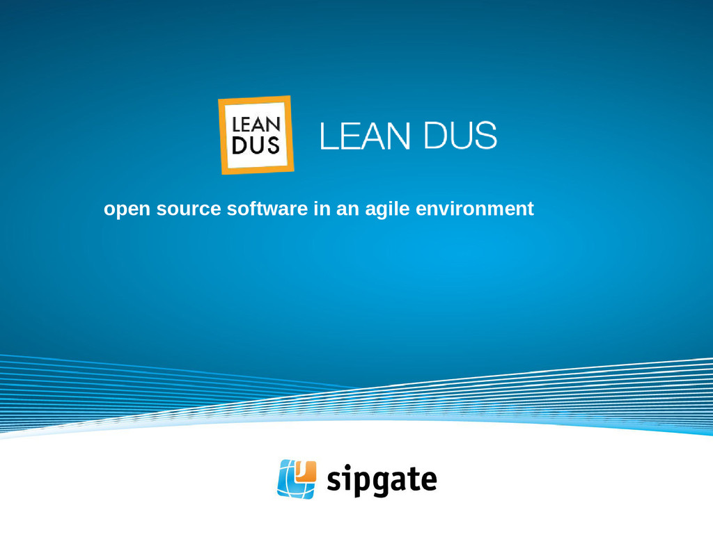 open source software in an agile environment