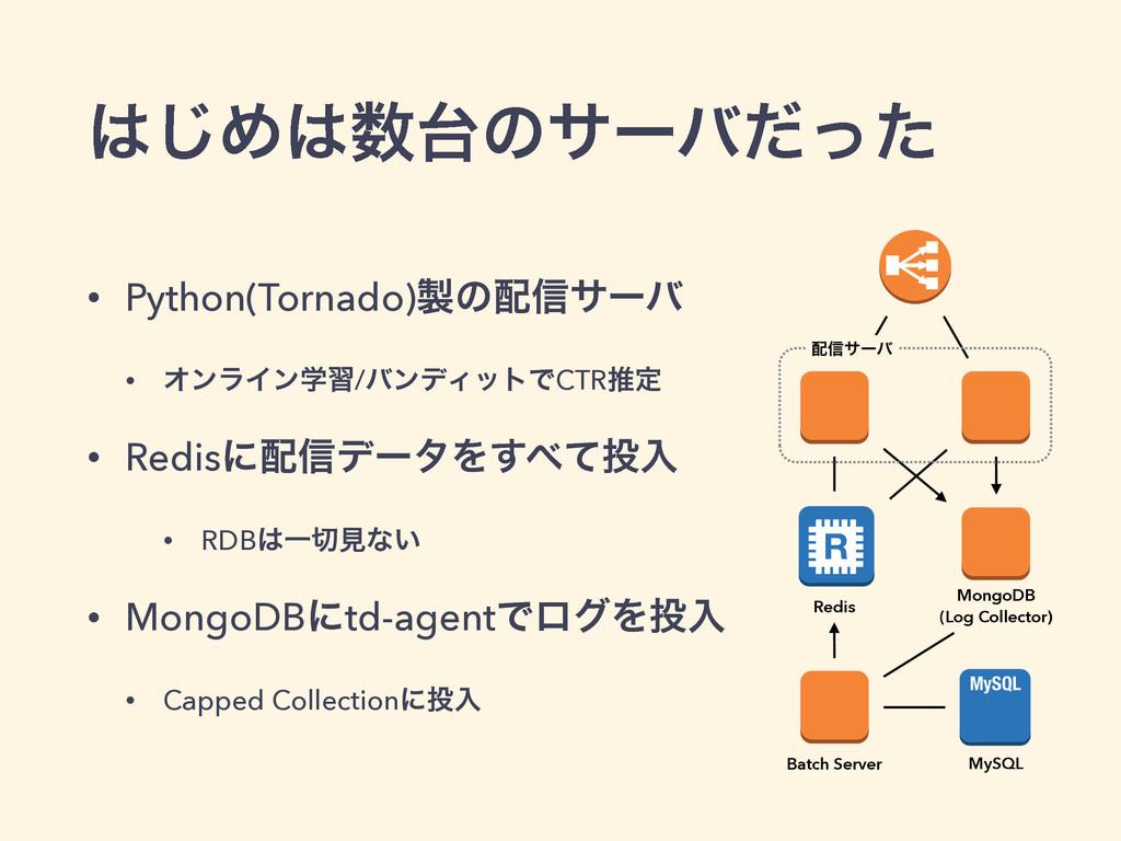 ͡Ίͷαʔόͩͬͨ • Python(Tornado)ͷ৴αʔό • ΦϯϥΠϯֶ...