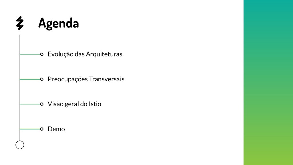 Evolução das Arquiteturas Demo Visão geral do I...