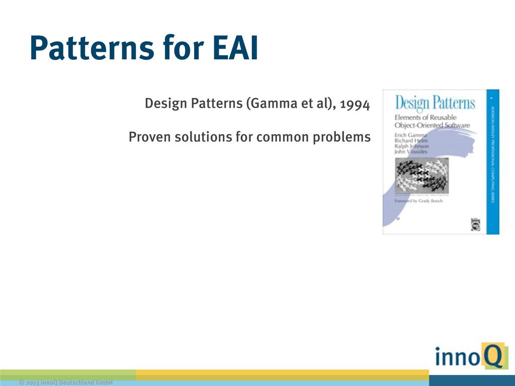 © 2013 innoQ Deutschland GmbH Patterns for EAI ...