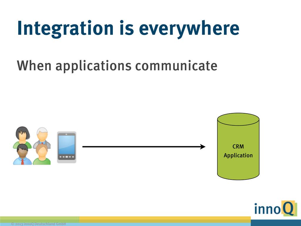 © 2013 innoQ Deutschland GmbH When applications...