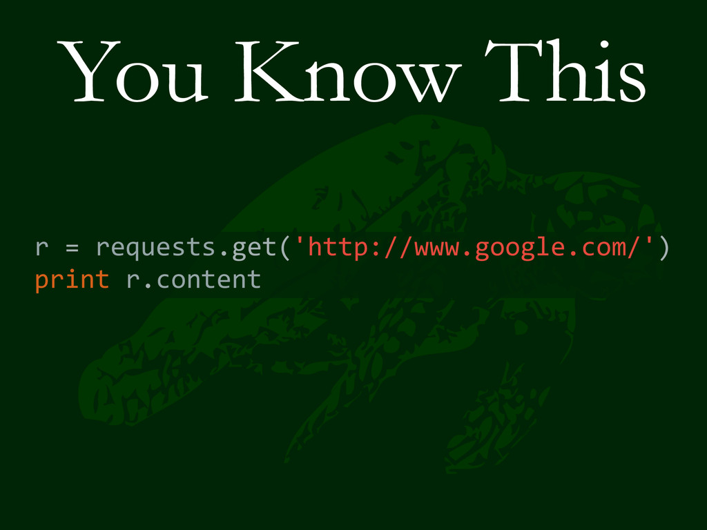 You Know This r = requests.get('http://ww...