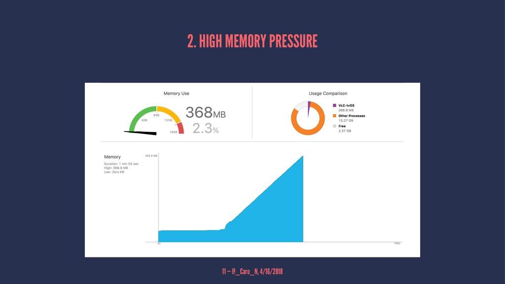 2. HIGH MEMORY PRESSURE 11 — @_Caro_N, 4/16/2018