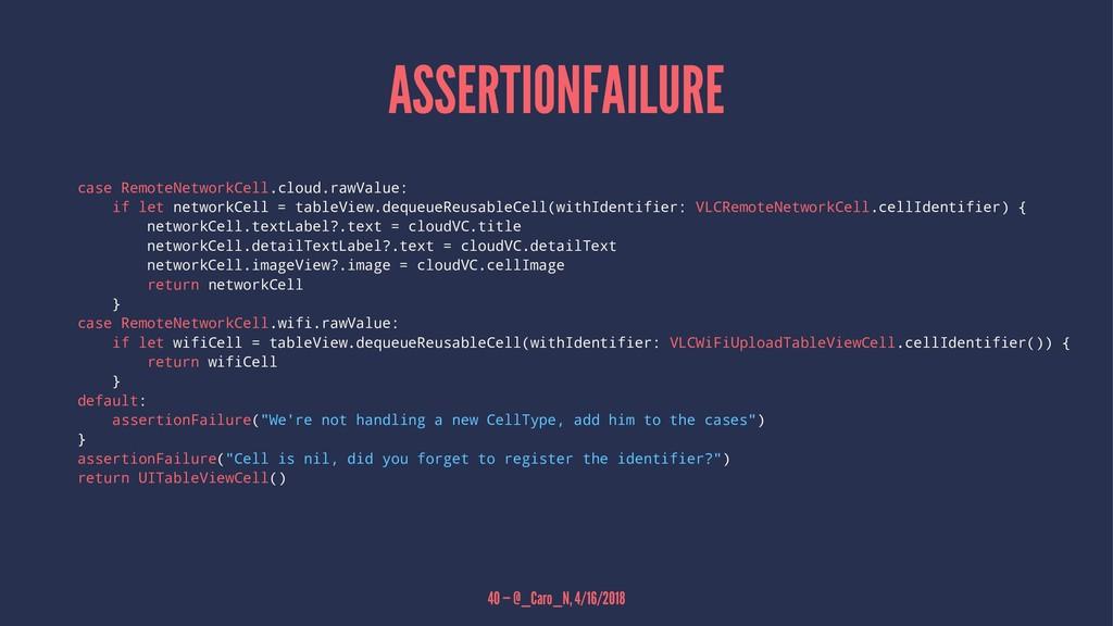 ASSERTIONFAILURE case RemoteNetworkCell.cloud.r...