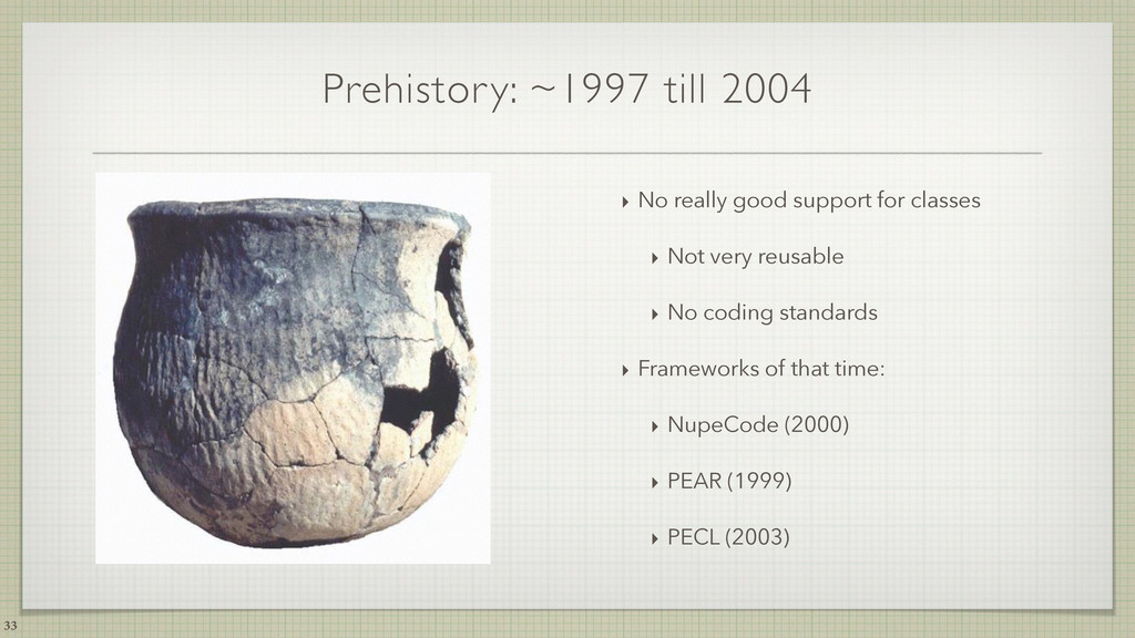Prehistory: ~1997 till 2004 ‣ No really good su...