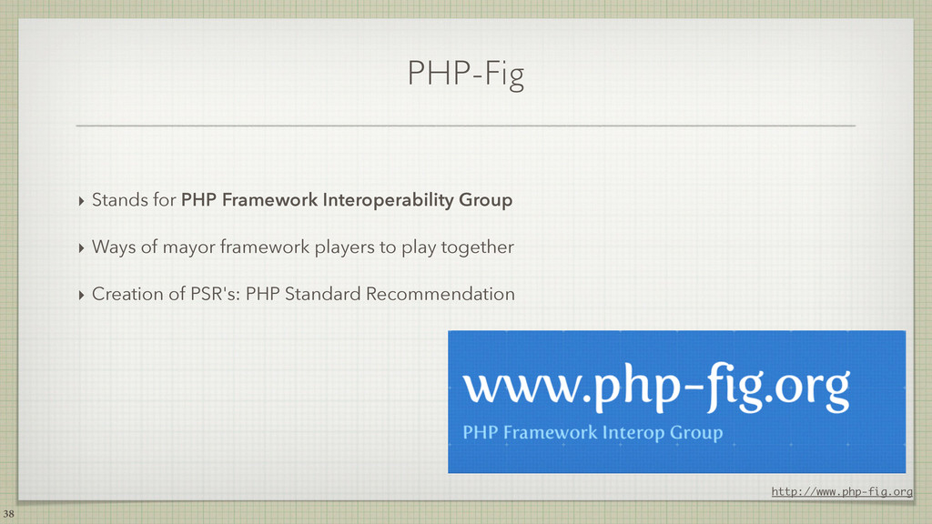 PHP-Fig ‣ Stands for PHP Framework Interoperabi...