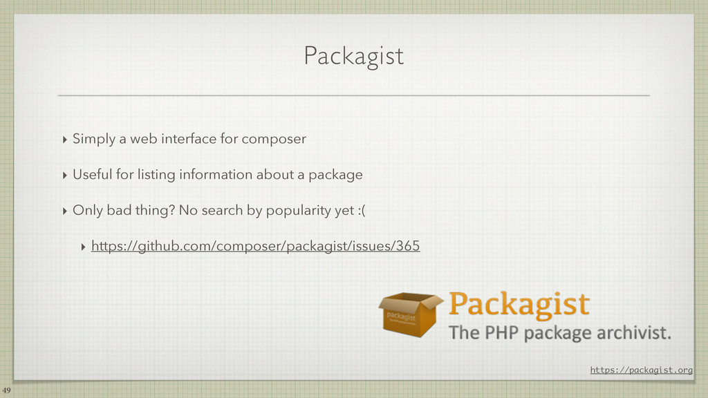 Packagist ‣ Simply a web interface for composer...