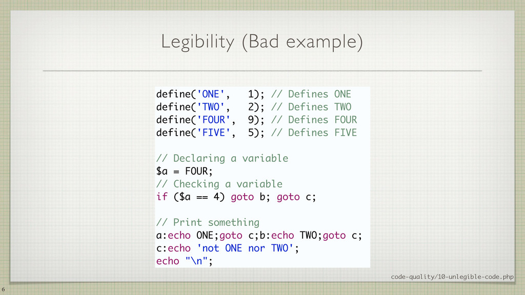Legibility (Bad example) code-quality/10-unlegi...