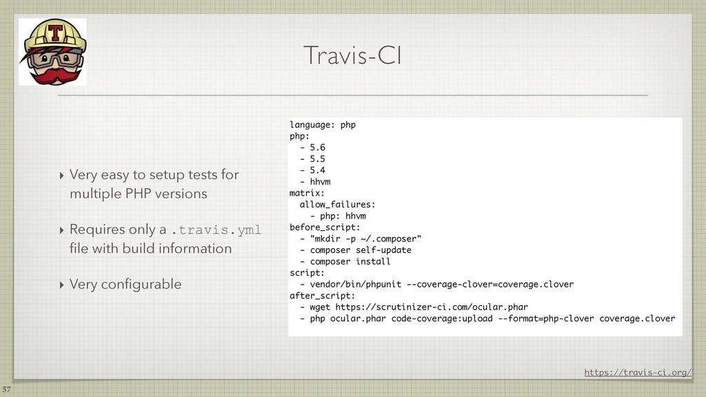 Travis-CI ‣ Very easy to setup tests for multip...