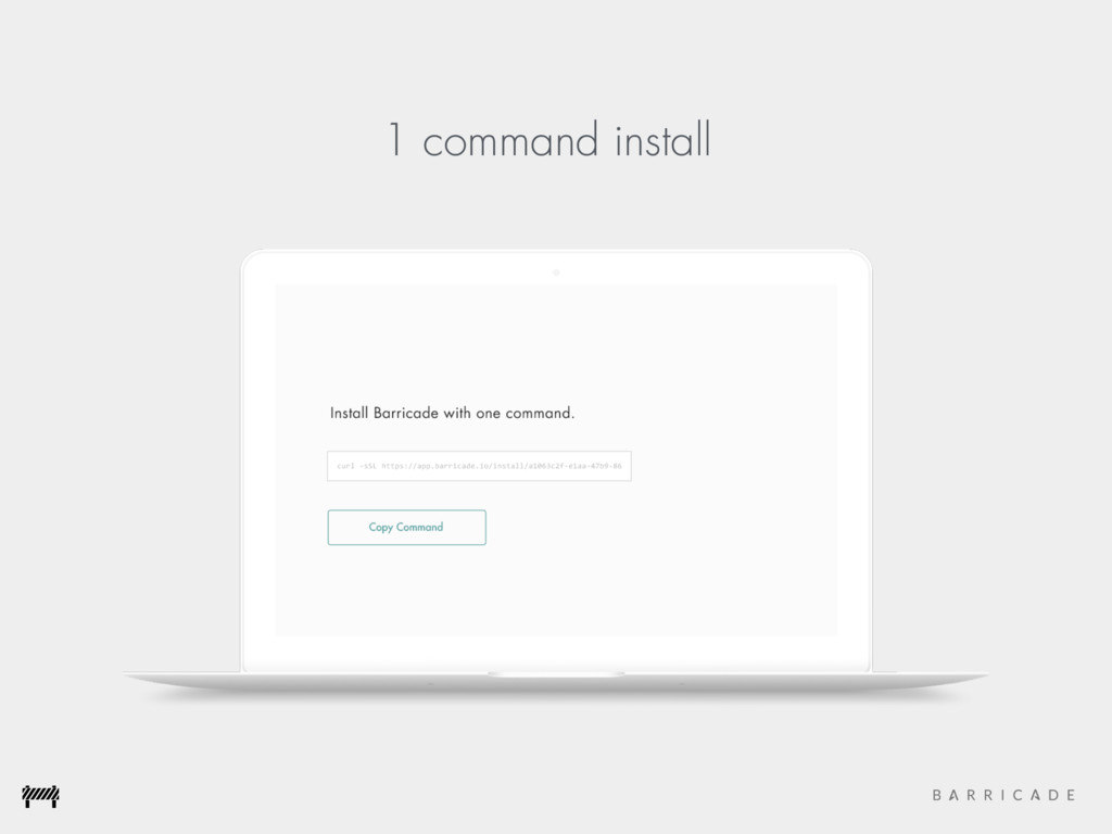 1 command install