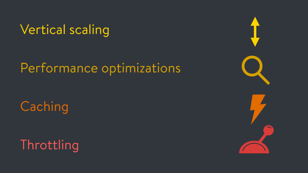 Vertical scaling Performance optimizations Cach...