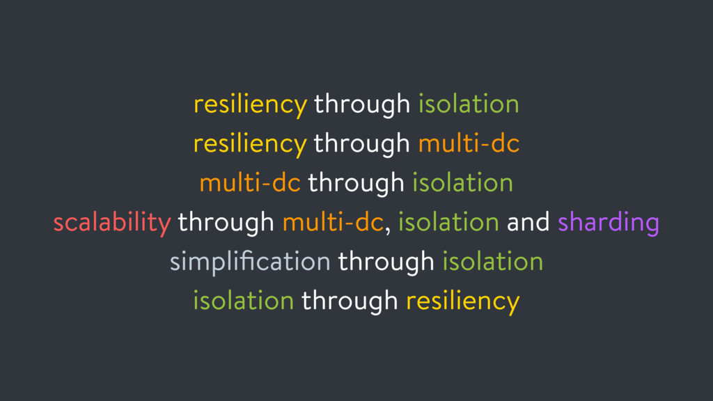 resiliency through isolation resiliency through...