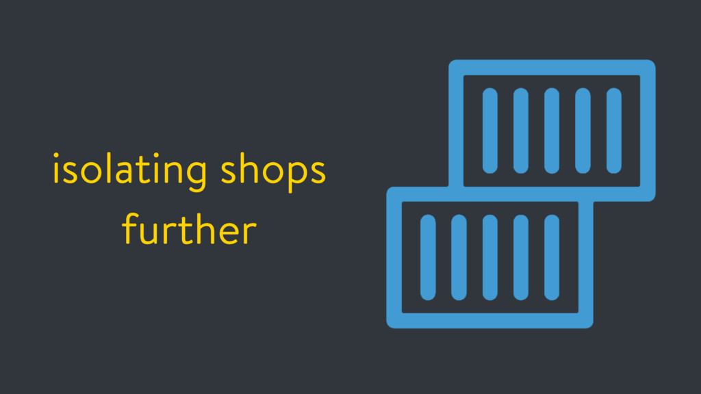 isolating shops further