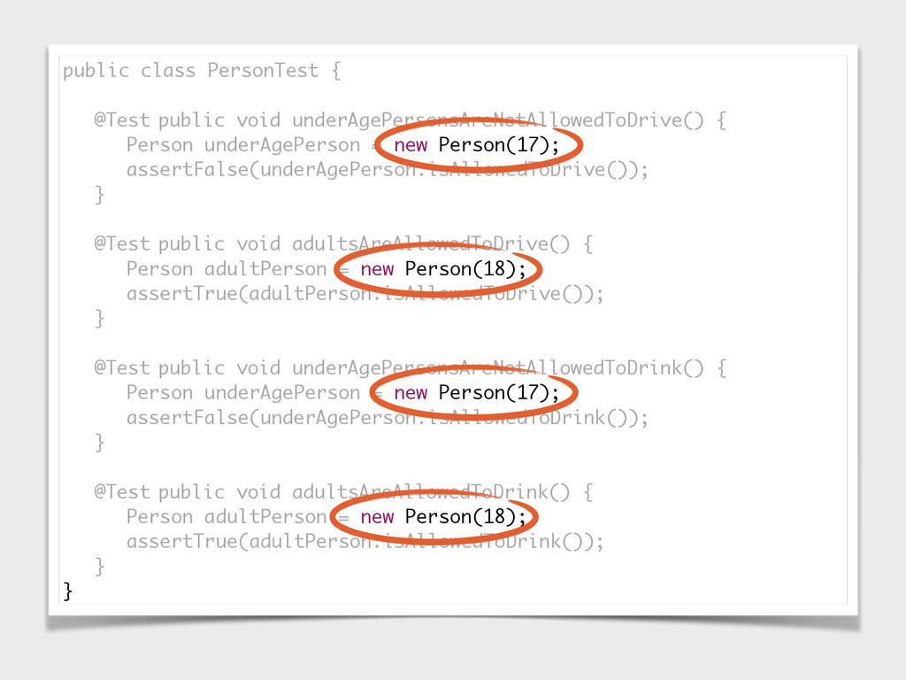 public class PersonTest { @Test public void und...