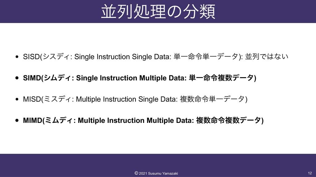 ฒྻॲཧͷྨ • SISD(γεσΟ: Single Instruction Single ...