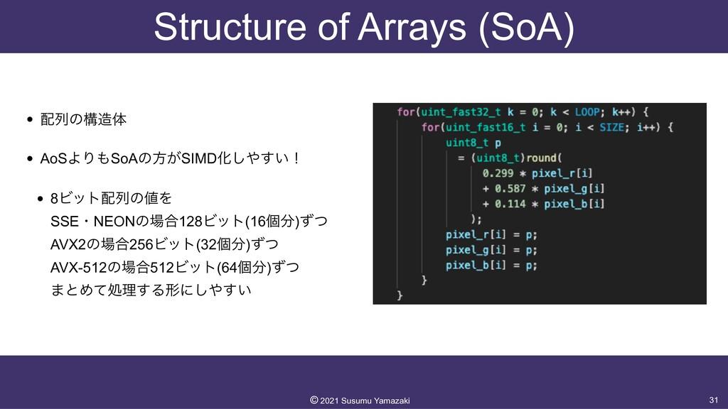 Structure of Arrays (SoA) • ྻͷߏମ   • AoSΑΓSo...