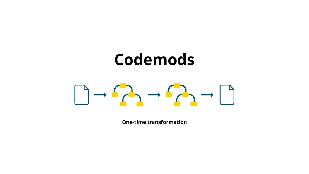 Codemods One-time transformation