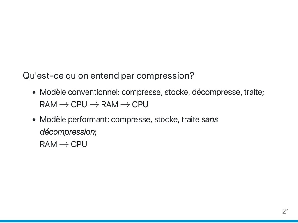 Qu'est‑ce qu'on entend par compression? Modèle ...
