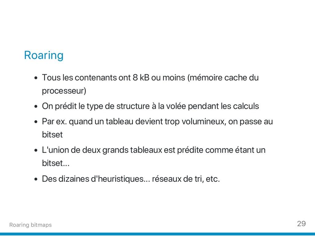 Roaring Tous les contenants ont 8 kB ou moins (...