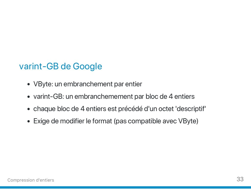 varint‑GB de Google VByte: un embranchement par...