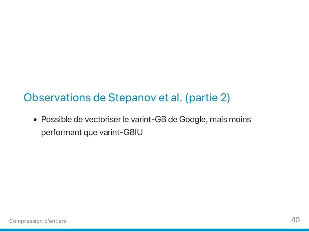 Observations de Stepanov et al. (partie 2) Poss...