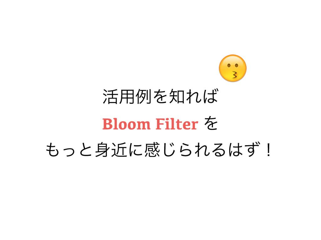 ׆༻ྫΛΕ Bloom Filter Λ ͬͱۙʹײ͡ΒΕΔͣʂ