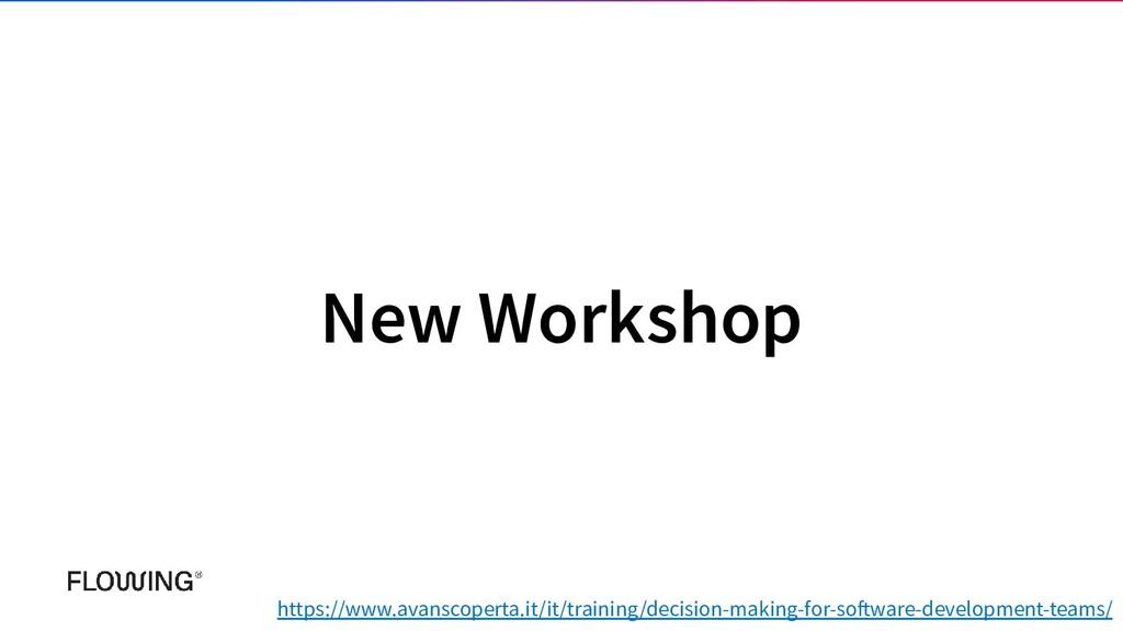 New Workshop https://www.avanscoperta.it/it/tra...