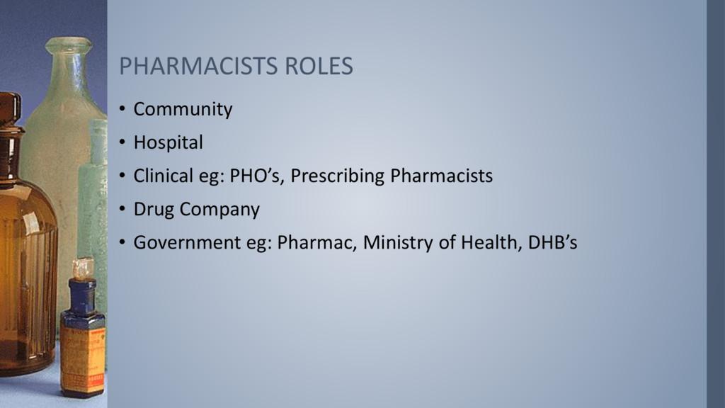 • Community • Hospital • Clinical eg: PHO's, Pr...
