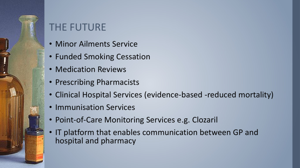 • Minor Ailments Service • Funded Smoking Cessa...