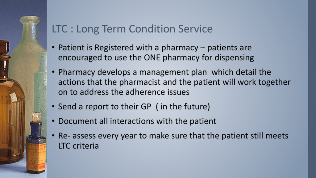 • Patient is Registered with a pharmacy – patie...