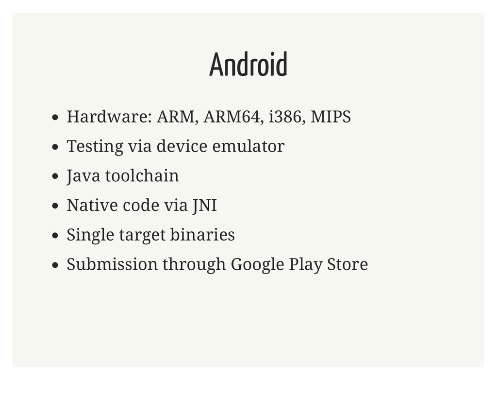 Android Hardware: ARM, ARM64, i386, MIPS Testin...