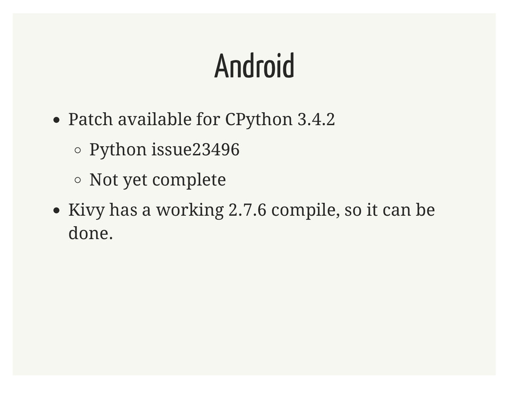 Android Patch available for CPython 3.4.2 Pytho...