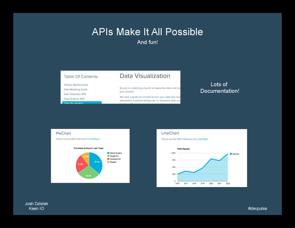 Josh Dzielak Keen IO   #devpulse   APIs Mak...