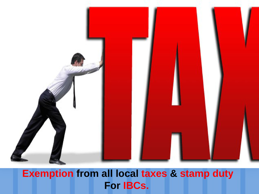 Establish an offshore company Exemption from al...