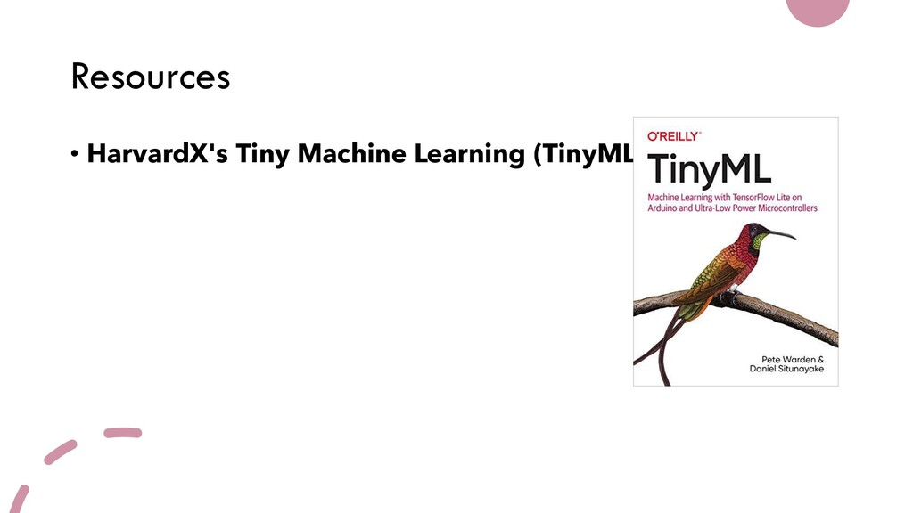 Resources • HarvardX's Tiny Machine Learning (T...