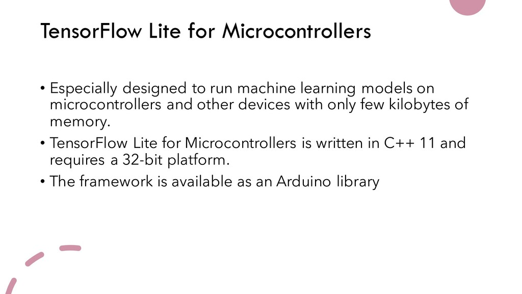 TensorFlow Lite for Microcontrollers • Especial...