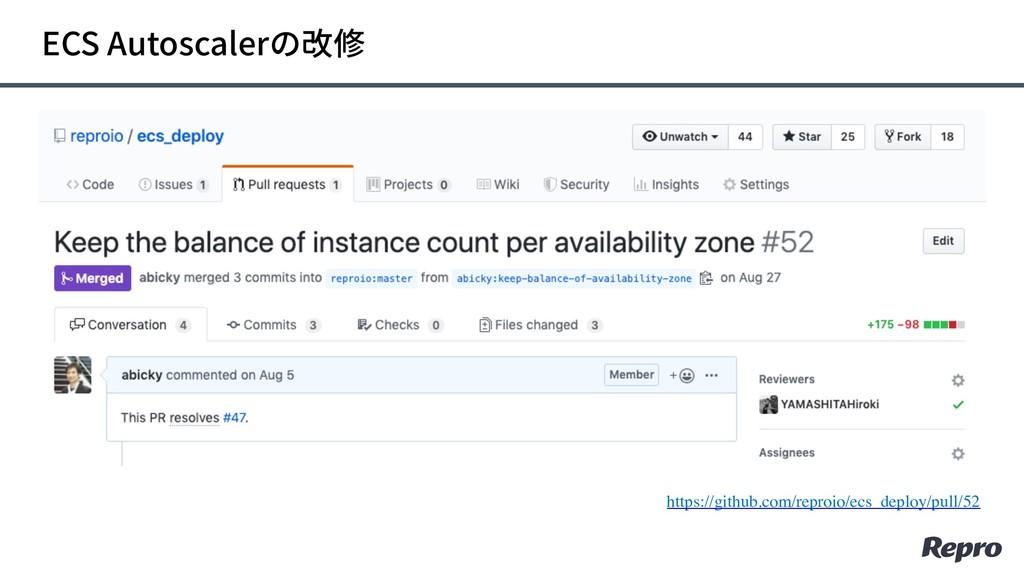 ECS Autoscalerの改修 https://github.com/reproio/ec...