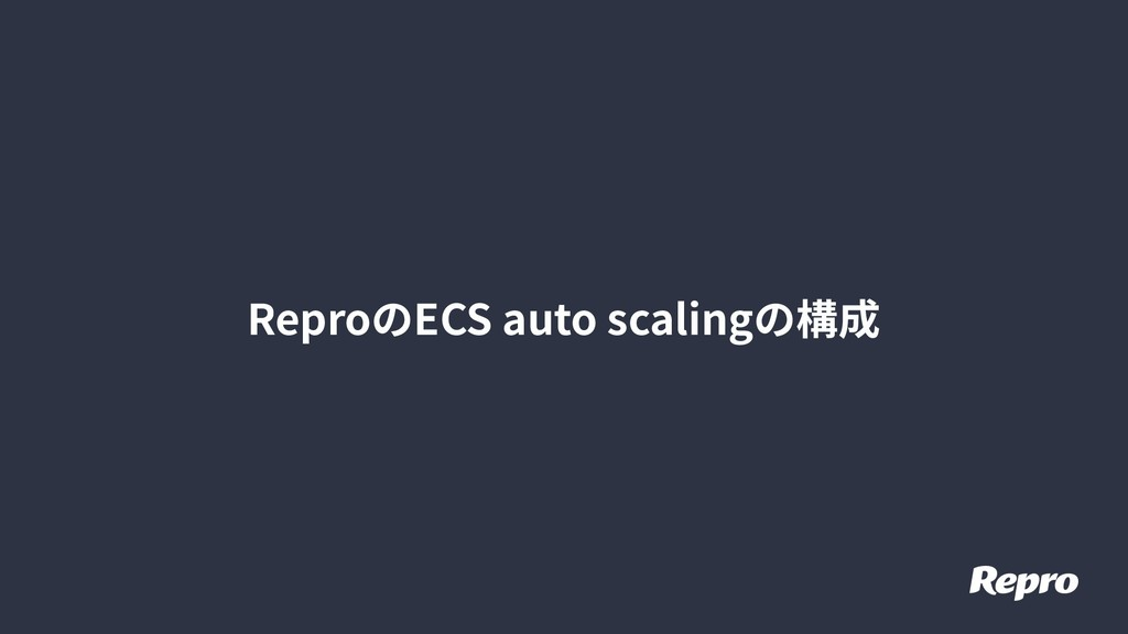 ReproのECS auto scalingの構成