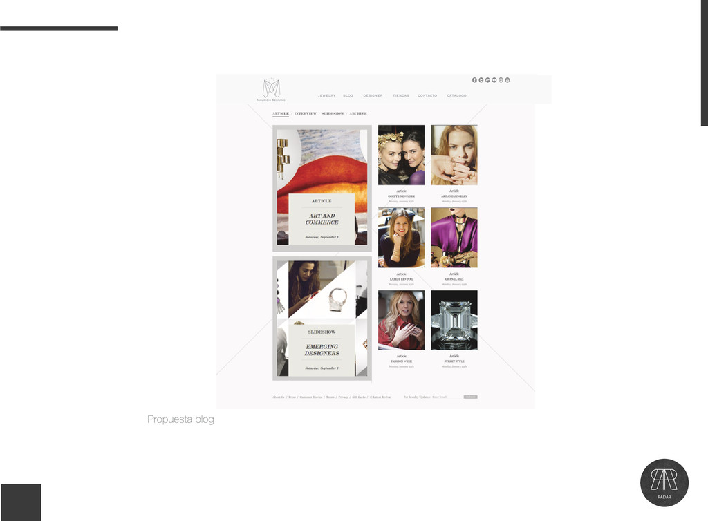 Propuesta blog jewelry blog designer tiendas co...