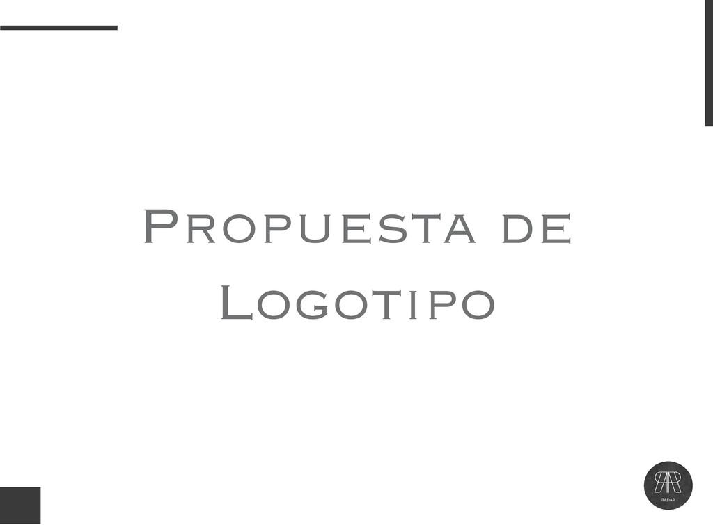 Propuesta de Logotipo