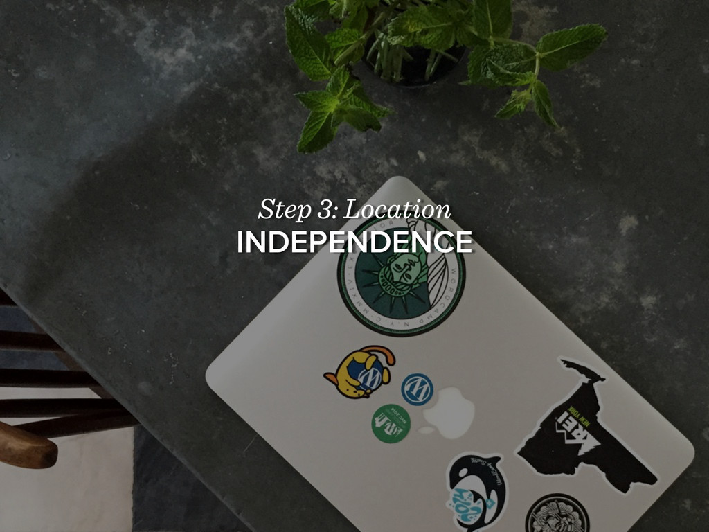 Step 3: Location INDEPENDENCE