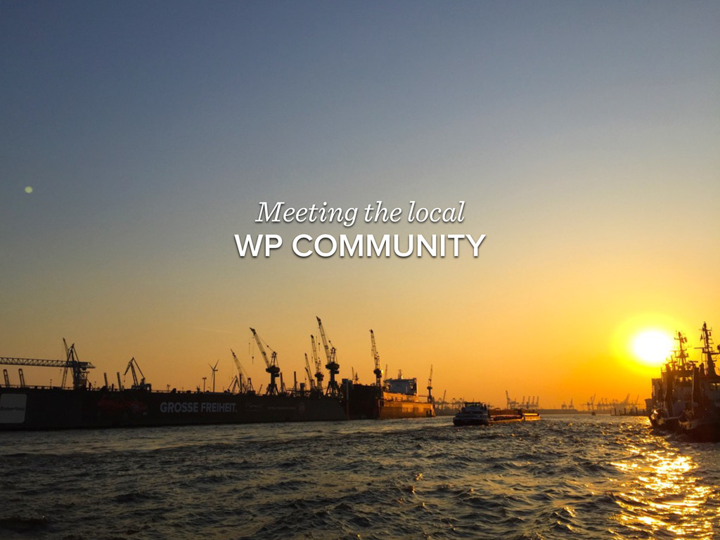 Meeting the local WP COMMUNITY
