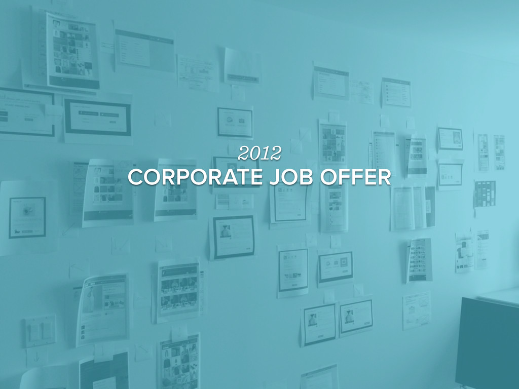 2012 CORPORATE JOB OFFER