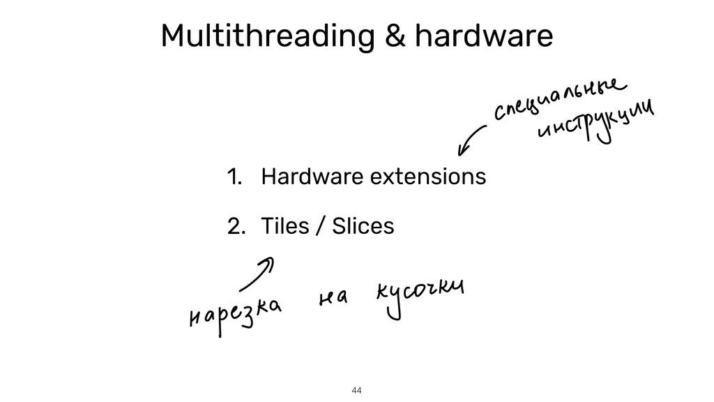 44 Multithreading & hardware 1. Hardware extens...