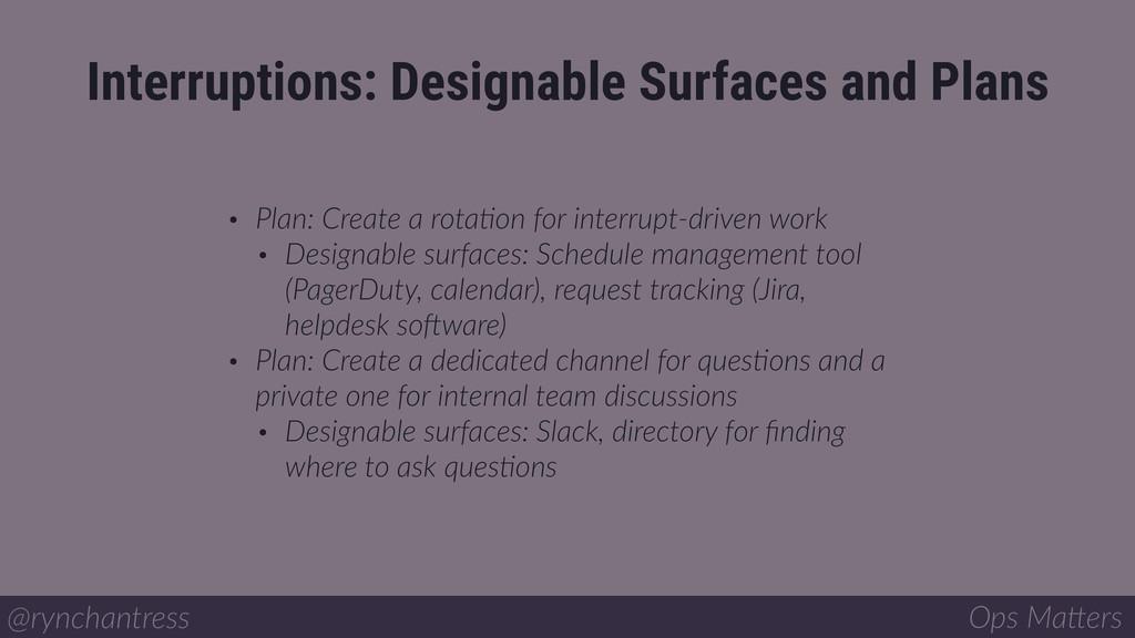 • Plan: Create a rotaIon for interrupt-driven w...