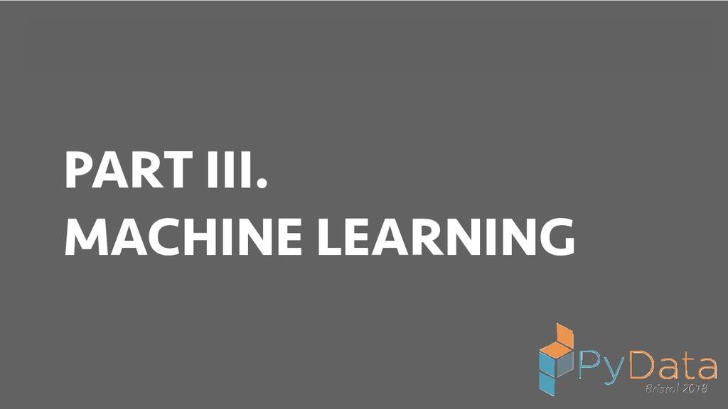 BREAK INTO DATA SCIENCE PART III. MACHINE LEARN...