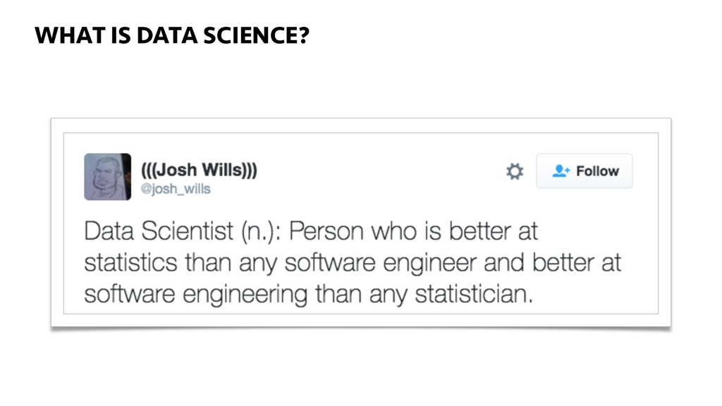 WHAT IS DATA SCIENCE? WHAT IS DATA SCIENCE?