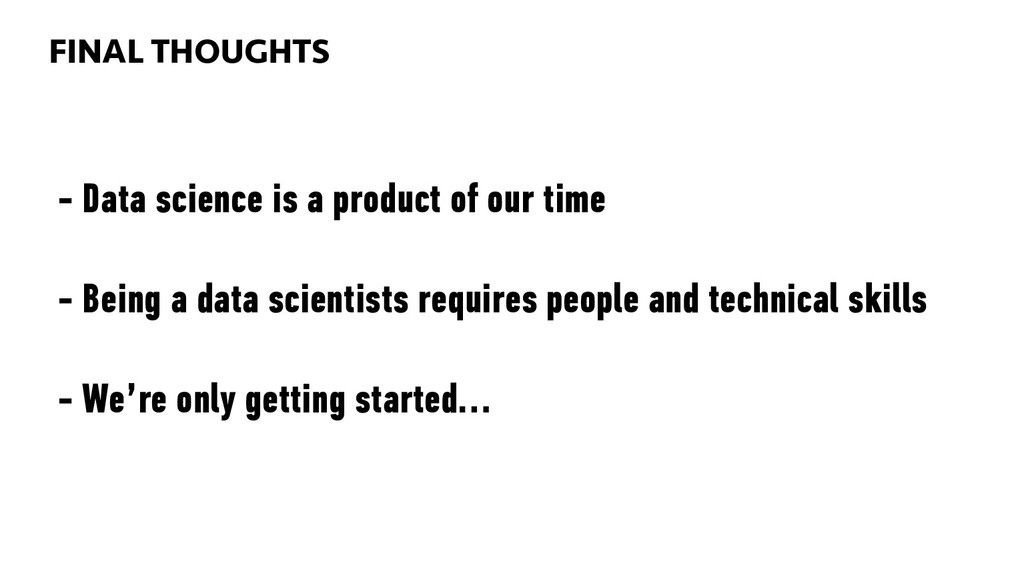 BIG DATA 96 - Data science is a product of our ...
